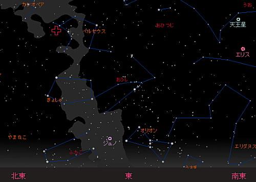 201408 13 ペルセウス座流星群星図1