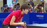 石川佳純VS丁寧(決勝)アジア大会2014
