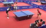 張継科VS李虎(団体予選)アジア大会2014
