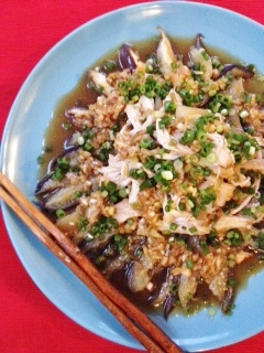 茄子とむね肉の重ね煮 中華風