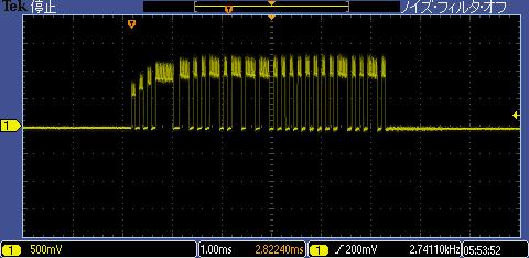 ラジコン(デコーダ)信号波形2