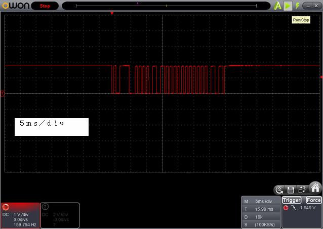 ラジコン送信機受信機ミスマッチ停止時