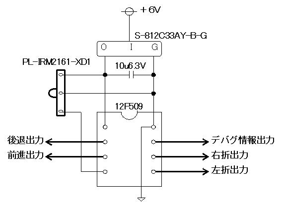 ラジコン送信機受信機ミスマッチ回路図