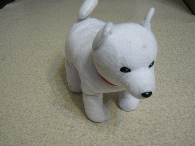 ホワイト犬の足折れ修理(針金細工)外観