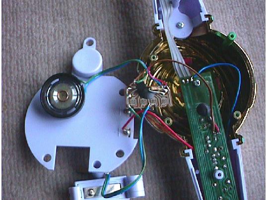 音と光が出るバトンの修理(サウンドIC移植)治療3