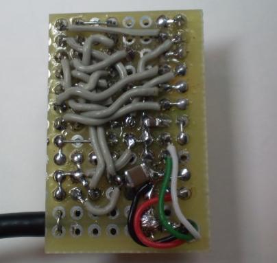 USB-シリアル変換器の製作基板2