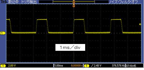 レガシーToyラジコンの信号フォーマット波形2トーン+デューティ前進+左ステア