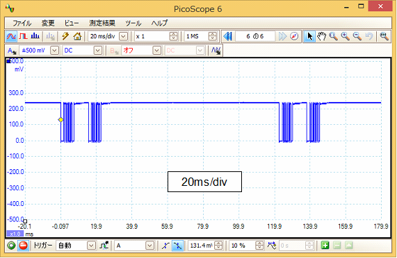 Toy赤外線リモコンの信号フォーマットQ-STEER波形1
