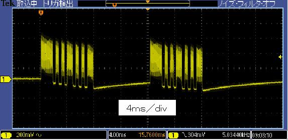 Toy赤外線リモコンの信号フォーマットCCPnano波形4