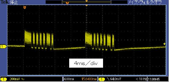 Toy赤外線リモコンの信号フォーマットCCPnano波形3