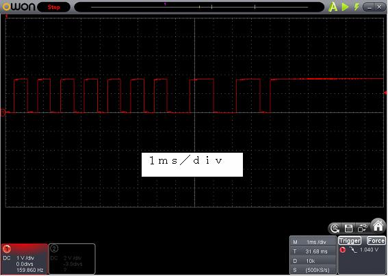 Toy赤外線リモコンの信号フォーマットSilverlit波形4