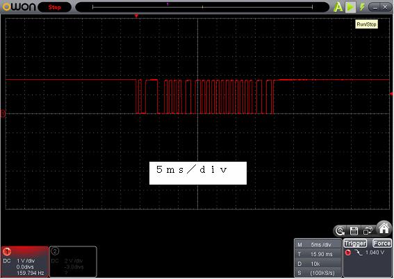 Toy赤外線リモコンの信号フォーマットSilverlit波形2