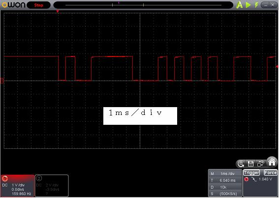 Toy赤外線リモコンの信号フォーマットSilverlit波形3