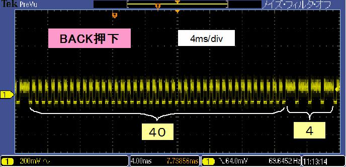 Toyラジコンの信号フォーマットTX2RX2RadiCan波形2