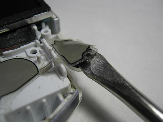 PSP-3000の修理(フレキケーブル断線)診察1