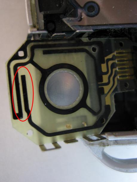 PSP-3000の修理(アナログスティック接触不良)診察2