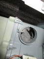 中川区 東芝製ドラム式洗濯機(TWZ8200L)ダクト前