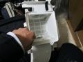 中川区 東芝製ドラム式洗濯機フィルター清掃
