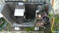 中川区 三菱製エアコン修理分解