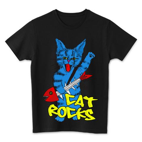 猫Tシャツ CatRocks