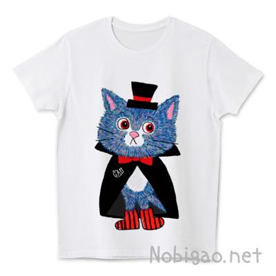 猫Tシャツ ハロウィン ドラキュラ