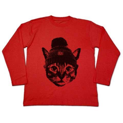 猫Tシャツ Nobigaoニットキャット