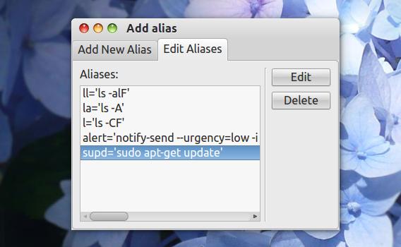Addalias Ubuntu コマンド エイリアスの編集