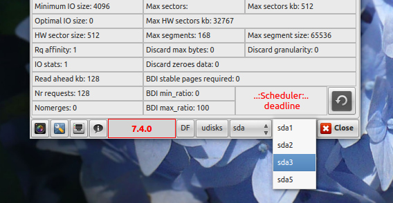 I-Nex Ubuntu 14.04 システム情報 ハードディスクやパーティションの切り替え