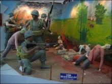 ハノイ・ソンミ博物館に展示される韓国軍による虐殺シーン