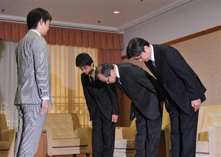 橋下市長に週刊誌記事の謝罪をする朝日新聞出版、週刊朝日20121112