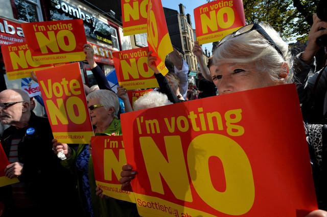 スコットランド独立への支持後退