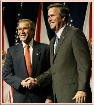 ジェブフロリダ州知事とジョージ前米大統領