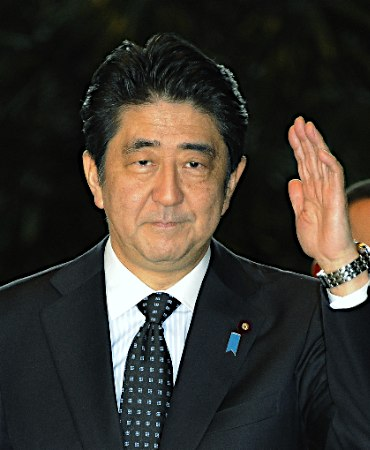 APEC会議に臨む安倍首相