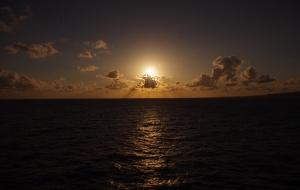 2014年日本海の夕日