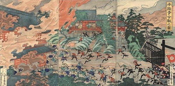 上野 『本能寺合戦の図』