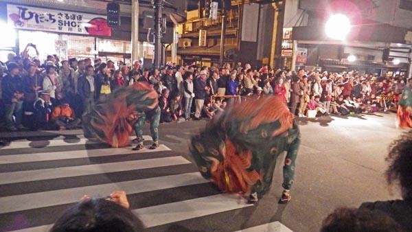 高山祭 獅子舞