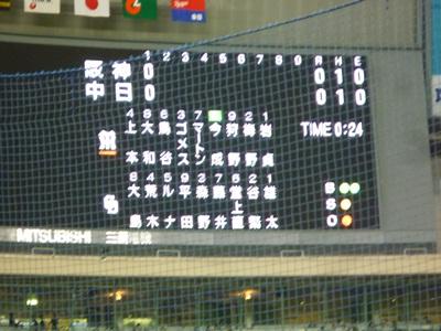 阪神vs中日3