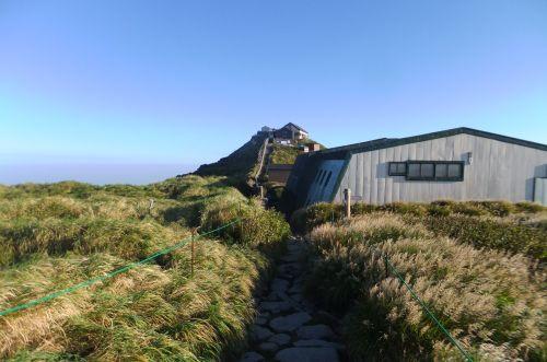月山神社と山小屋