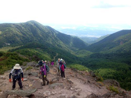 水ノ塔山への登り