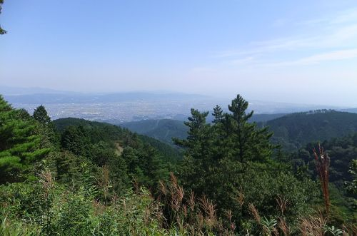 小田原の町と相模湾