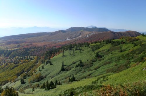 草津白根山と浅間山
