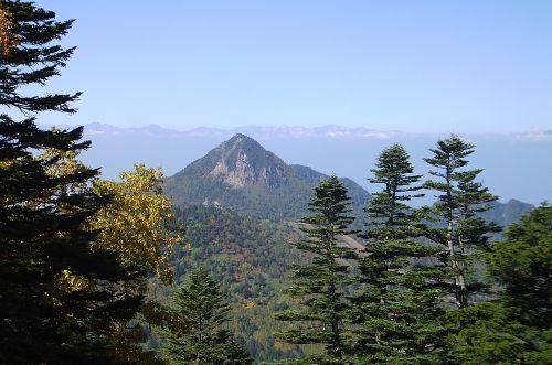 笠ヶ岳と後立山