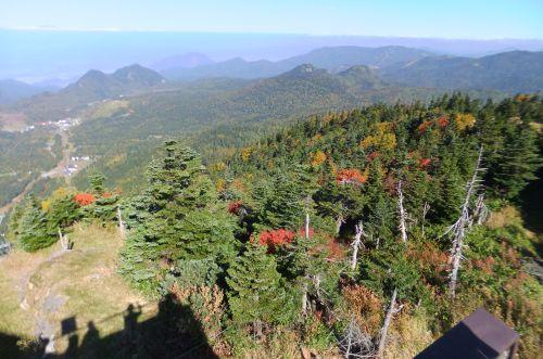志賀高原の山並み