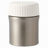 ステンレス 保温・保冷 携帯ランチボックス/銀 約直径9.5×高さ12.5cm