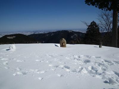 天狗も雪の中