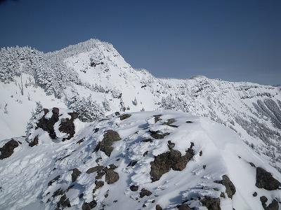 黒斑山と蛇骨岳