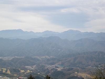 不老山からの丹沢