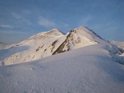 シッケイノ頭と頂上付近
