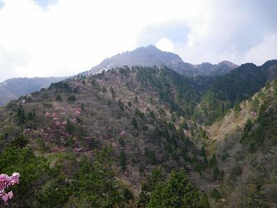 鎌ヶ岳を振り返る