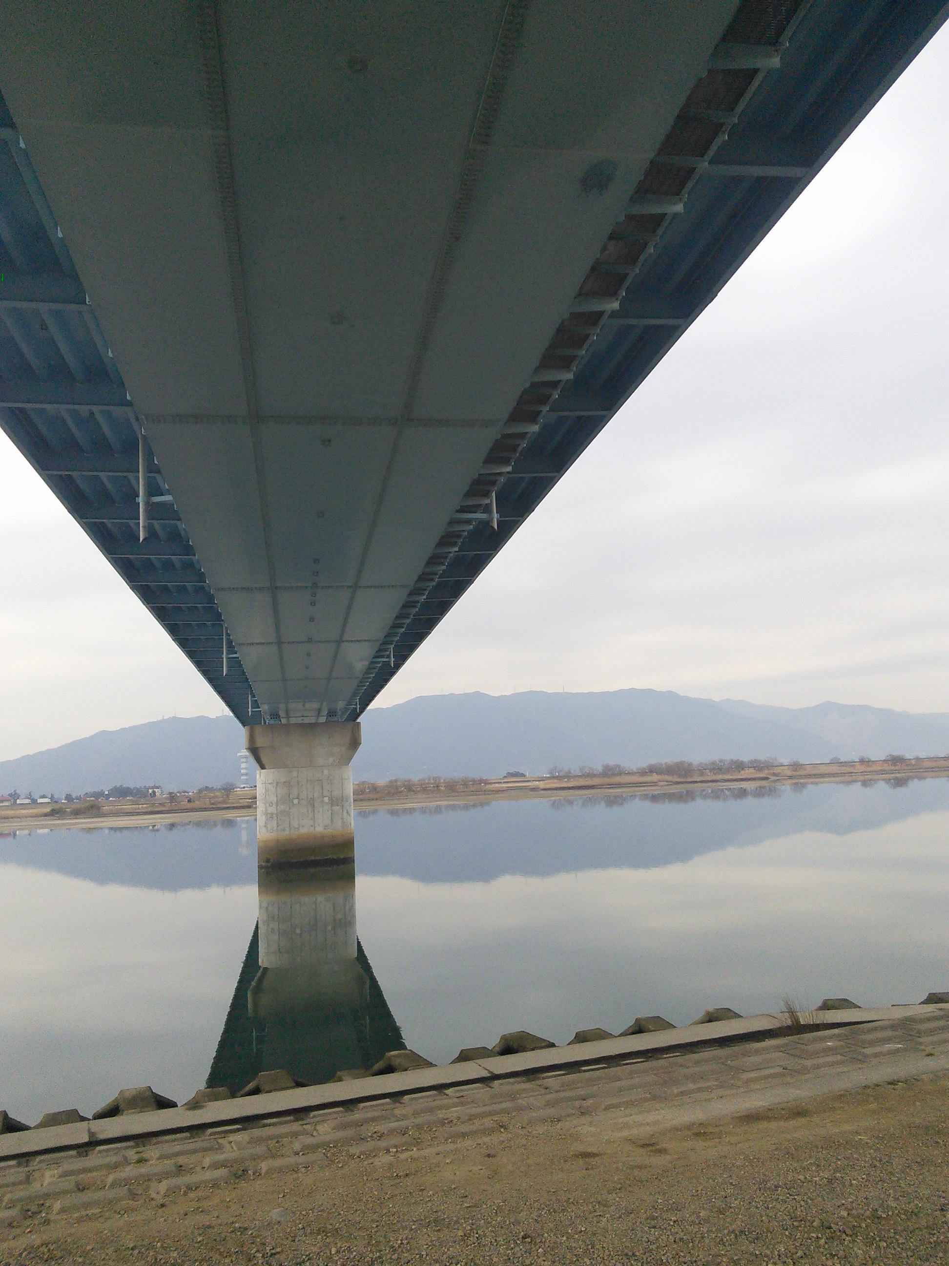 木曽川にて